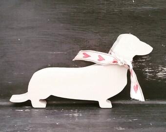 Wooden Dachshund Ornament, Handpainted Dachshund Decoration, Sausage Dog, Wiener dog , Dog Lover Gift, Dachshund Gift, Memento, Keepsake
