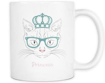 Coffee Mug for Hot or Cold Beverage - Beautiful Princess Cat - Perfect Gift for Him or Her. Cat Lovers Collection