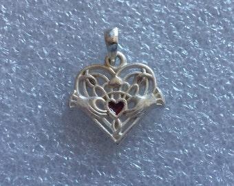 Claddagh Pendant 925 Silver Claddagh Charm