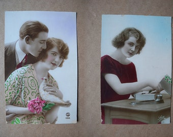 9. romantic postcards. 20's