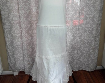 Simple White Upcycled Wedding Dress, Casual White Beach Wedding Dress, White Boho Upcycled Dress, White Dress
