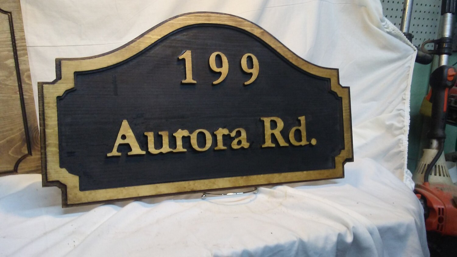 Last Name Home Welcome Signs Address Plaque Wooden Address Signs House  Number Wooden Wall Hanging Always Better Customized