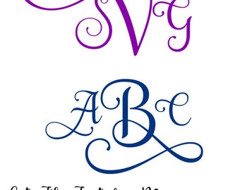 Monogram Font, Font for Monogram Cut File