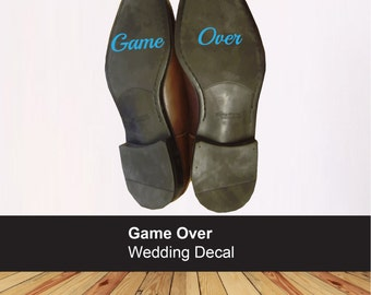 Game Over wedding shoe sticker - Groom decal - Funny sticker