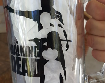 The walking dead mug, the Walking dead gifts, Gifts for him, Beer mug, Walking dead, Rick Grimes1, the walking dead daryl, Mens gift ideas