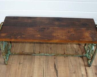 Reclaimed Rusty Bench