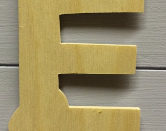 Small Plain Wooden Letters - Wedding/Nursery/Names 8.5 cm height -3mm width