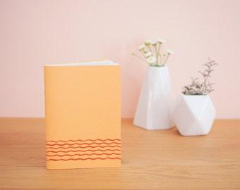 Waves - mustard yellow notebook