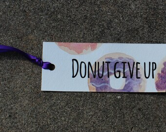 Watercolor Bookmark - Donuts