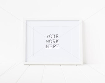 """Styled Stock Photography - Frame Mock Up - White Frame with Mat - 8"""" x 10"""" - 20cm x 25cm - High Resolution JPEG + PSD file with Smart Object"""