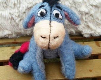 Eeyore, needle felt eeyore, winnie the pooh, eeyore plush, eeyore soft toy, needle felt donkey, needle felted animals, eeyore ornament