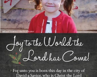 """Joy to the World Scripture Christmas Card, """"The Lydia"""" (Digital Print File)"""
