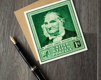 John James Audubon, ornithology, birdwatching, birdwatcher, naturalist, conservationist, bird gifts, birdwatcher gifts, USA postage stamps