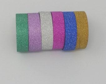Glitter Washi tape Set of 6