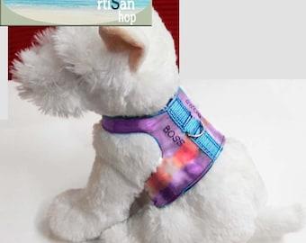 "Tie dye ""boss"" harness,harness,dog harness,cat harness,harness for dog,pet harness,funny harness,rabbit coat,dog costume,pet coat,boss"