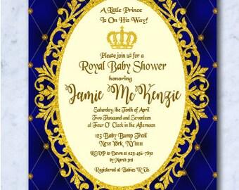 Royal Baby Shower Invitation, Royal Baby Shower, Baby Shower Invitation