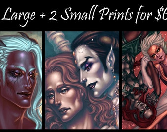 Discount Package: 3 Large + 2 Small Prints