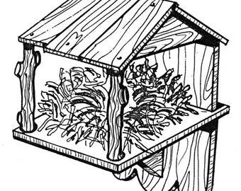 Nest Box Bird House #916- Woodworking / Craft Pattern