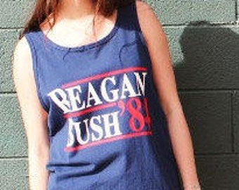 Reagan Bush 84', Politics, George Bush, Ronald Regan, Republican, Democrat, Old School