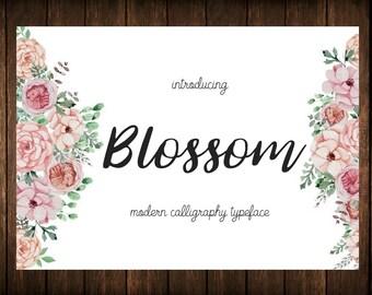 Font download - Digital fonts - Handwritten font - Calligraphy font - Watercolor font - Wedding font - Brush font. Font instant download