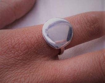 Handmade Sterling Silver Disc Ring.