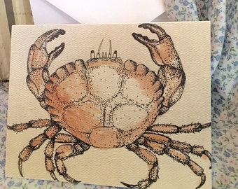 Crab Greeting Cards (Qty 4)