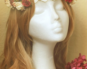 Flower crown, Elfica Crown, Elfica Tiara, Flower Tiara, medieval tiara