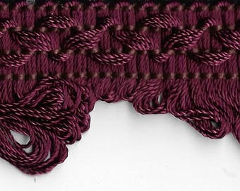 MAROON Scallop Woven Gimp Trim 12 YARDS, Upholstery, Home Decor, Decorative Pillows
