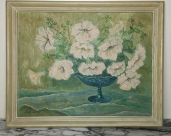 Mid-Century Vintage Floral Still Life by Hazelquist
