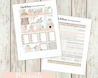 April Printable Planner Stickers/Monthly Kit/Weekly Kit/For Use with Erin Condren/Fall Glam Glitter Floral Fashion Flowers Designer