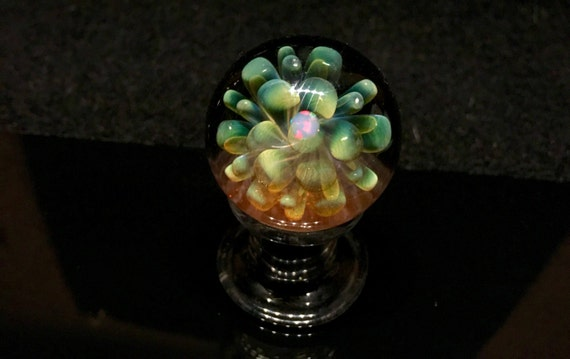 Explosion Glass Flower Marble w/ Opal *FREE SHIPPING*