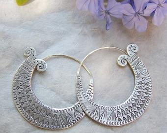 Silver earrings, silver, silver jewelry, ethnic jewelry earrings.