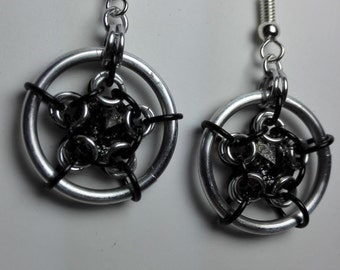 Earrings Black/Silver Swarovski