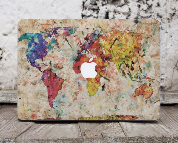 Macbook decal map world map decal apple sticker macbook air like this item gumiabroncs Image collections