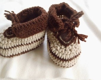 PDF crochet pattern baby shoes, foot length 11 cm, 6-8 months