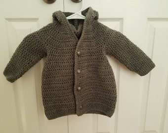 Grey Hooded Sweater boys 4/5T