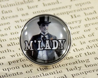"Snap Charm Button ""M'LADY"" Meme Jewelry, Meme Gifts, Dank Memes, Vintage, Noosa, Ginger Snaps, Memes, Internet Humor"