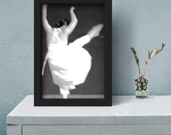 Large Poster Wall Art, photography prints, dance photography, black and white photography, dancer art print, photography gift, Printable Art