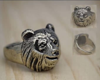 Bear ring Bear jewelry Animal ring Ring for men Head bear Celtic pagan jewelry Biker ring Grizzly bear ring Slavic ring