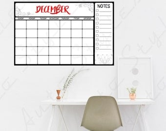 Dry Erase Bard Calendar Wall Decals Peel & Stick Stickers Kids Decor Vinyl