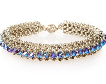 beautiful swarovski bracelet with a magnetic clasp with Rhinestone