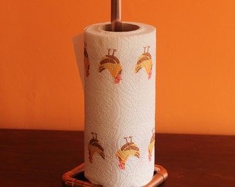 Copper pipe kitchen roll holder / stand