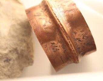 Wide Folded Copper Cuff