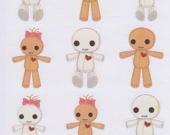 VooDoo Dolls | 198 | Planner Sticker | Kikki-K | Happy Planner | Erin Condren