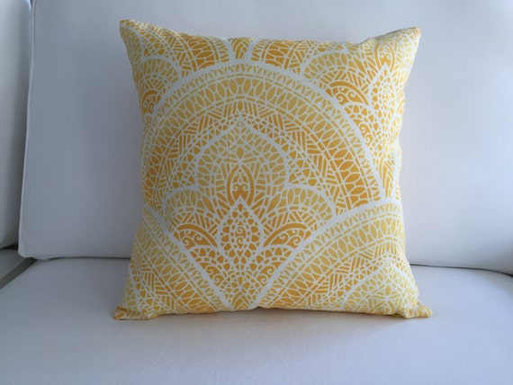 yellow pillow cover 16 x 16 outdoor pillow. Black Bedroom Furniture Sets. Home Design Ideas