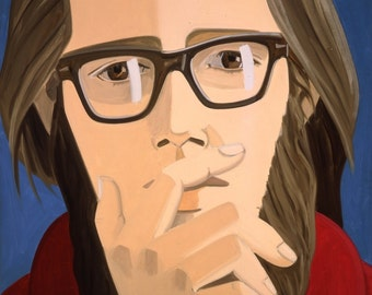Alex Katz art print Ted Berrrigan (b. 1927) lithograph print large