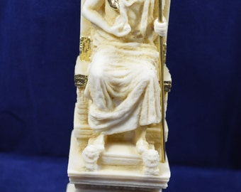 Zeus sculpture throne statue ancient Greek God king of all gods