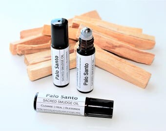 Palo Santo Smudge Roll-on // Palo Santo Ritual Oil // Sacred smudge ritual oil // Smudge Roll on // Palo Santo Anointing Oil