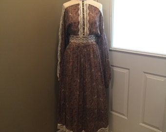 Vintage Rare Unicorn Gunne Sax Dress 1970s