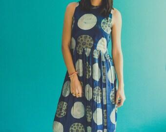 Ajrakh handblocked Maxi Dress